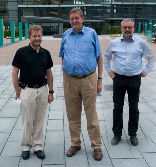 Friedhelm Hillebrand (centre), Finn Trosby (right) and Kevin Holley (left),