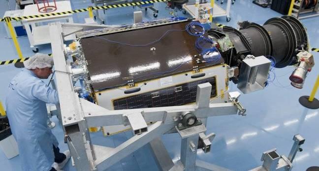 DMC3 spacecraft under assembly
