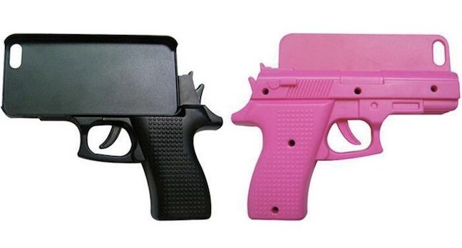 Oi, idiot fanbois. DONu0026#39;T buy this gun-shaped iPhone case, mmkay ...