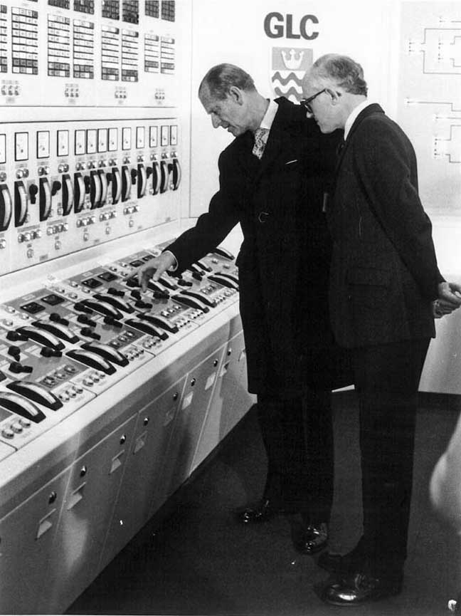 Prince philip Thames barrier old control room photo Environment Agency