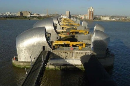 Thames Barrier control tower view, photo: Gavin Clarke