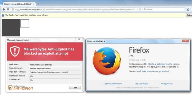 Firefox exploit from Malwarebytes