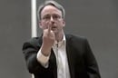 Linus Torvalds flips the bird
