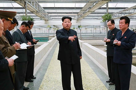 Kim Jong-un at the terrapin farm. Pic: Rodong Sinmun