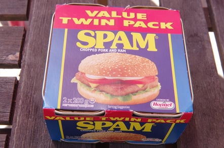 Value pack of two tins of Spam