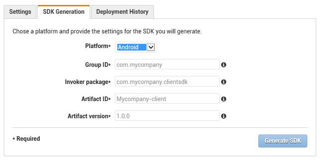 Generate an SDK with API Gateway