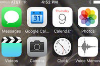 iOS9 home screen