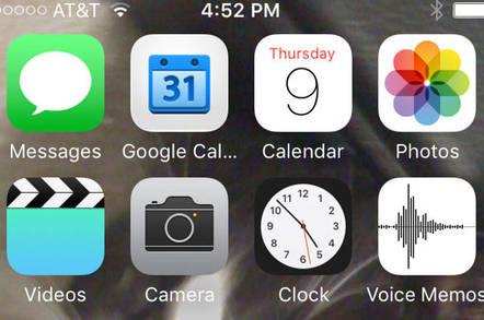 iOS9 home screen