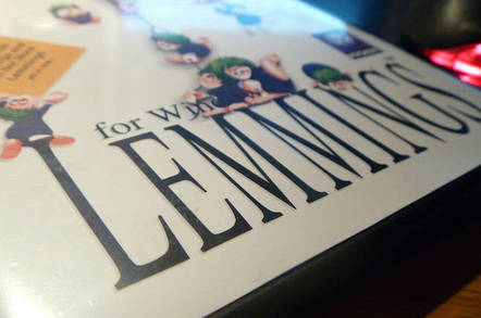 Lemmings for Windows box by https://www.flickr.com/photos/comedynose/ cc 2.0 attribution generic https://creativecommons.org/licenses/by/2.0/