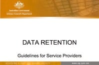 DATA RETENTION Guidelines for Service Providers