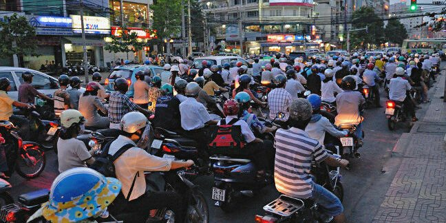 "Traffic in Saigon. Pic: ""M M"""