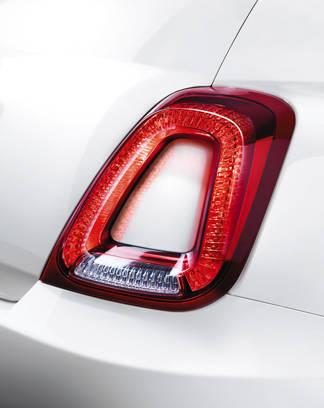 New rear lights on Fiat 500