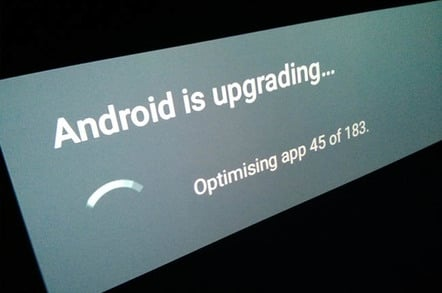 Android TV updating