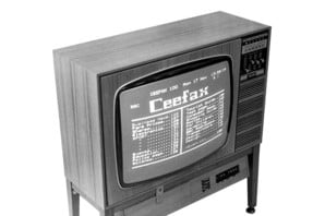 Old TV with Ceefax
