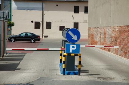 Parking barrier photo via Shutterstock