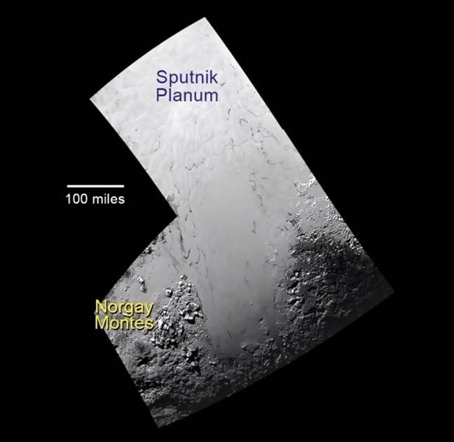 Mosaic of Pluto's surface