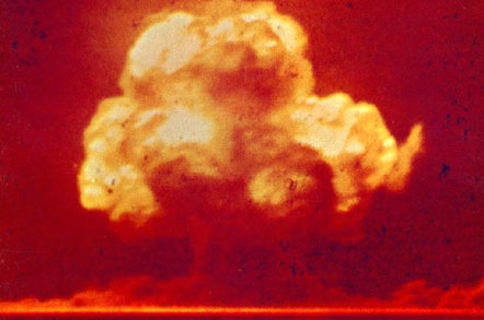 Trinity atomic bomb test