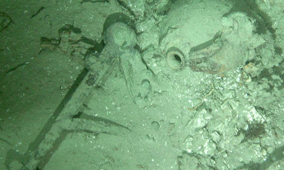 Shipwreck remains found at bottom of sea off coast of North Carolina. Pic credit: Duke University
