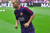 Andres Iniesta of FC Barcelona