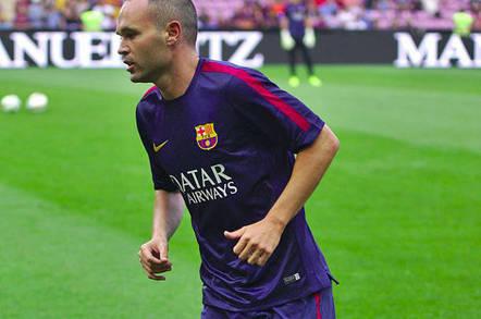 Andres Iniesta of FC Barcelona