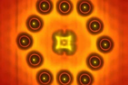 NRL's STM image of molecular transistor