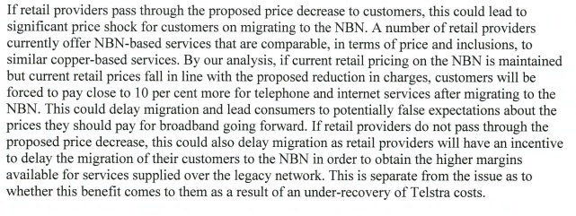 dept of comms analysis of nbn pricing