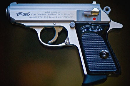 Walther PPK pistol. Pic: Art Bromage
