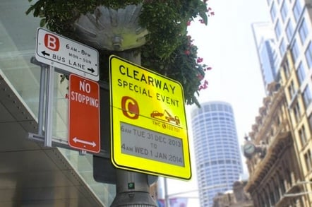 E-ink parking sign in Sydney