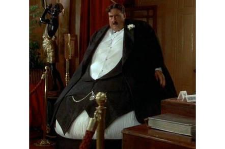 Mr Creosote prepares to gobble