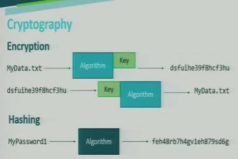 encryption vs hashing image