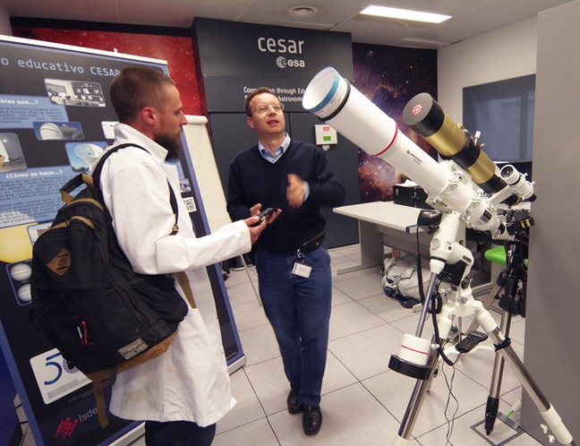 Matt with Michel Breitfellner in the CESAR office