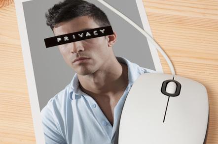 Online privacy image via Shutterstock