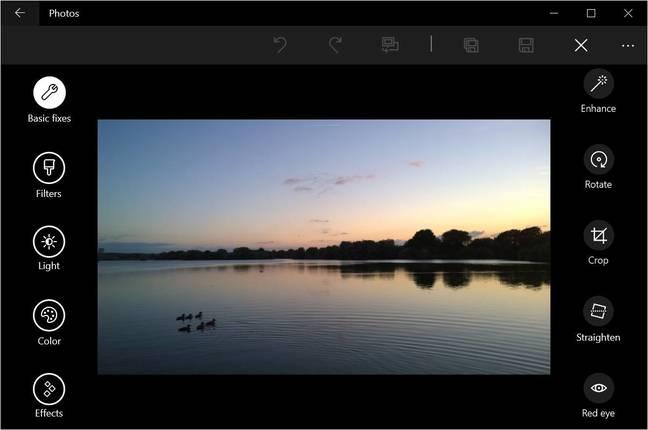 The Windows 10 Photos app