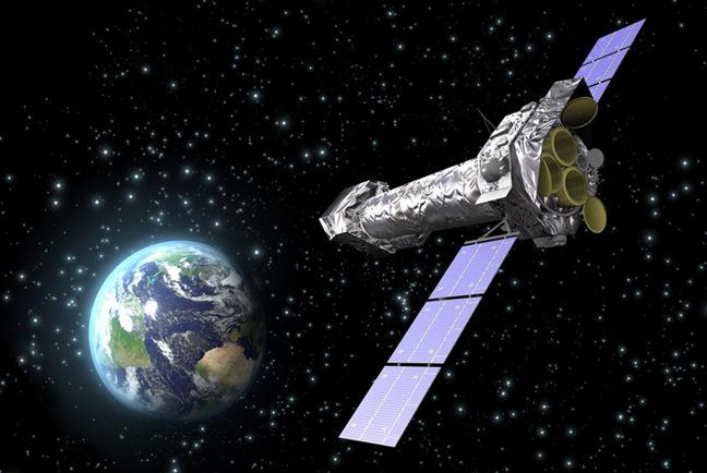 Artist's impression of the XMM-Newton spacecraft. Pic: ESA