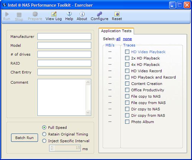 Intel NAS Performance Toolkit (NASPT)