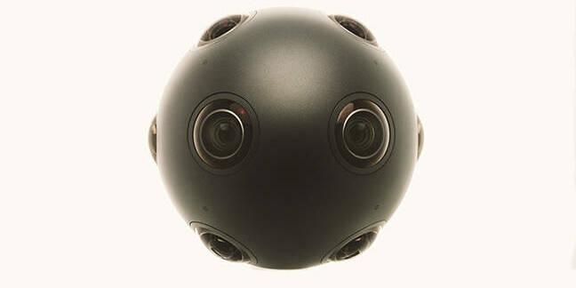 A round camera which looks around