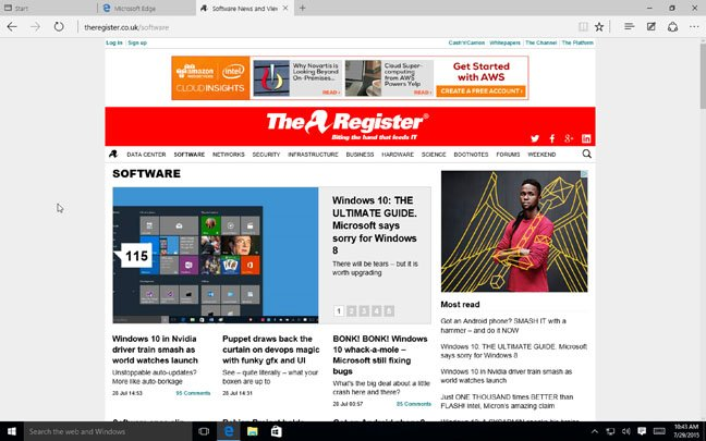 The Register in Edge