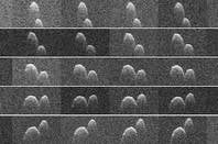 Radar images of asteroid 1999 JD6 obtained on 25 July 2015. Image credit: NASA/JPL-Caltech/GSSR