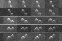 Radar images of asteroid 1999 JD6 obtained on 25 July 2015. Image credit: NASA/JPL-Caltech/GSSR