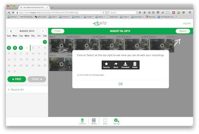 Arlo Clips Browser