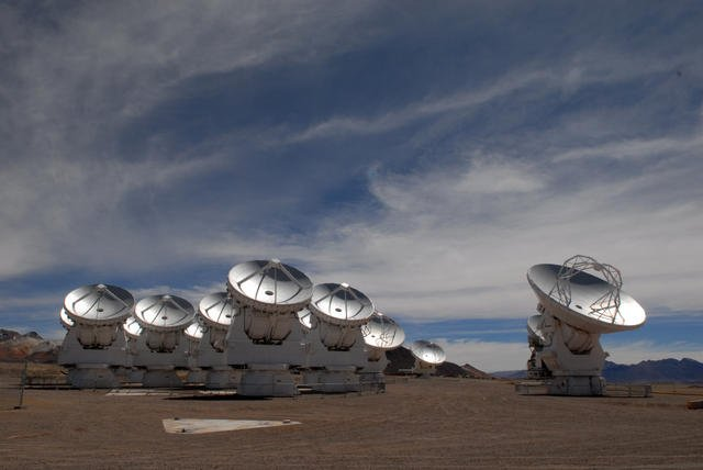 ALM antennas on the Chajnantor Plateau