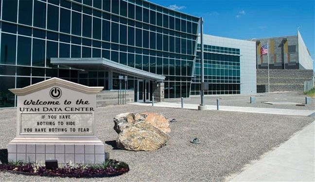 Utah data center entrance