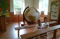 New Lanark big globe photo Bill Ray
