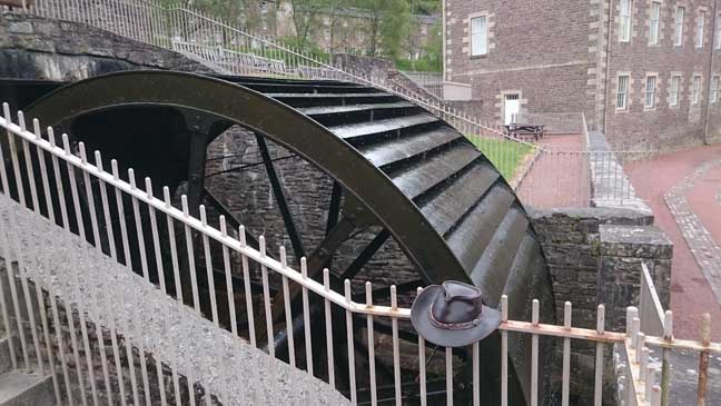 New Lanark waterwheel photo Bill Ray