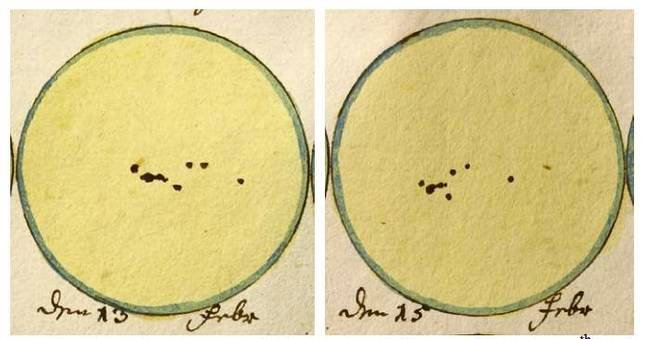 Sunspot drawings