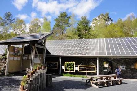 CAT solar panels photo SA Mathieson