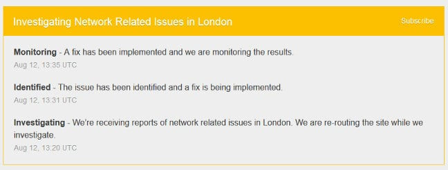Cloudflare's London outage update