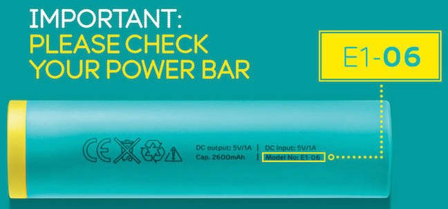 EE image of Power Bar showing wrong CE marking
