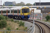 London Overground and a Southeastern train near Bermondsey. Pic: Matt Buck