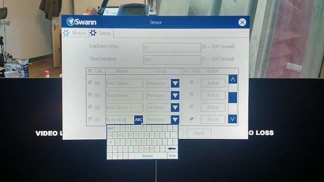 Swann NVR interface